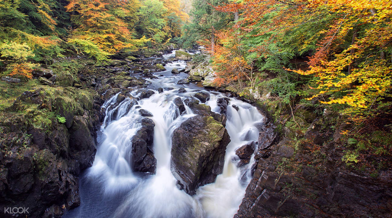 scottish highlands tour from edinburgh, scottish highlands day tour, scotland highland whisky tour, black linn falls