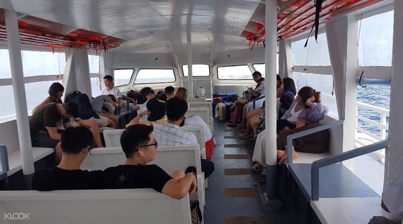people onboard a ferry