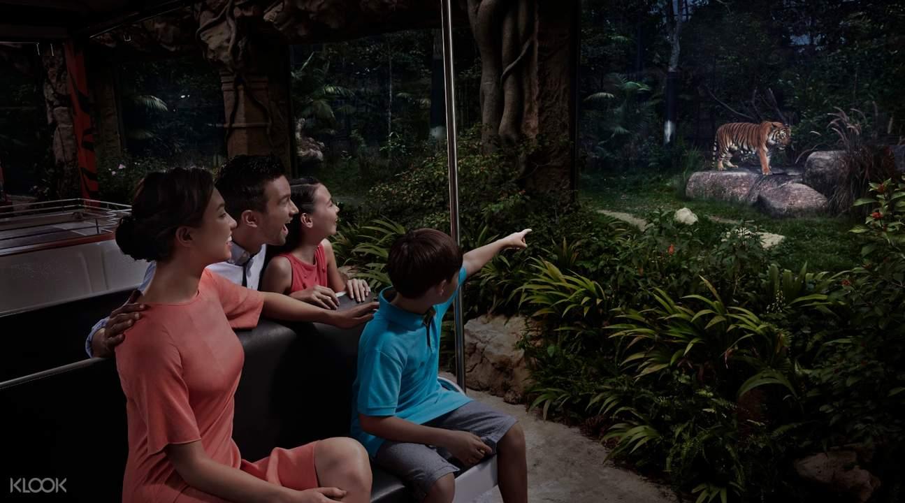 新加坡夜間野生動物園遊園車導覽