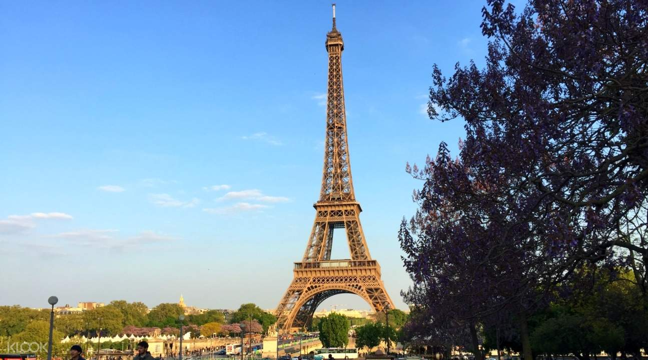 a view of the Eiffel Tower from afar