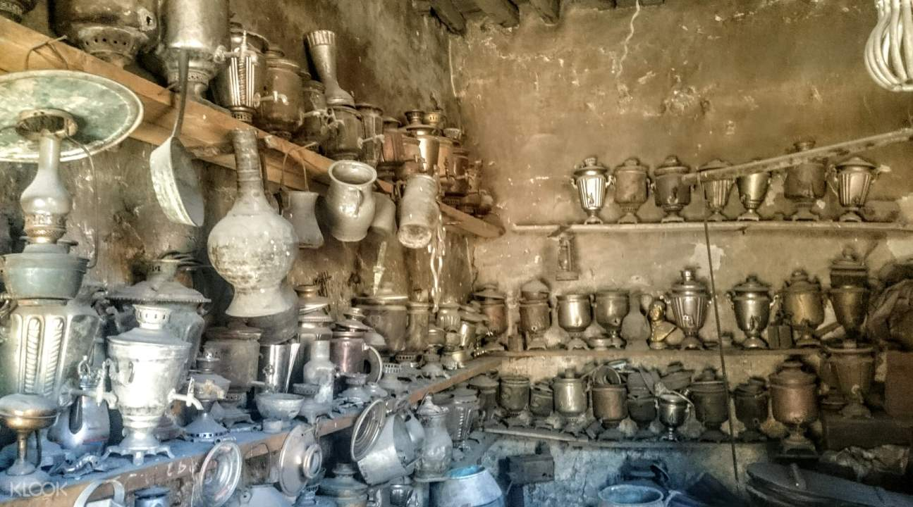 some copper crafts in Lahij
