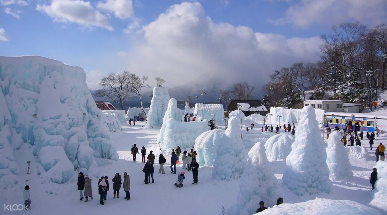 Lake Shikotsu Ice Festival Sculptures