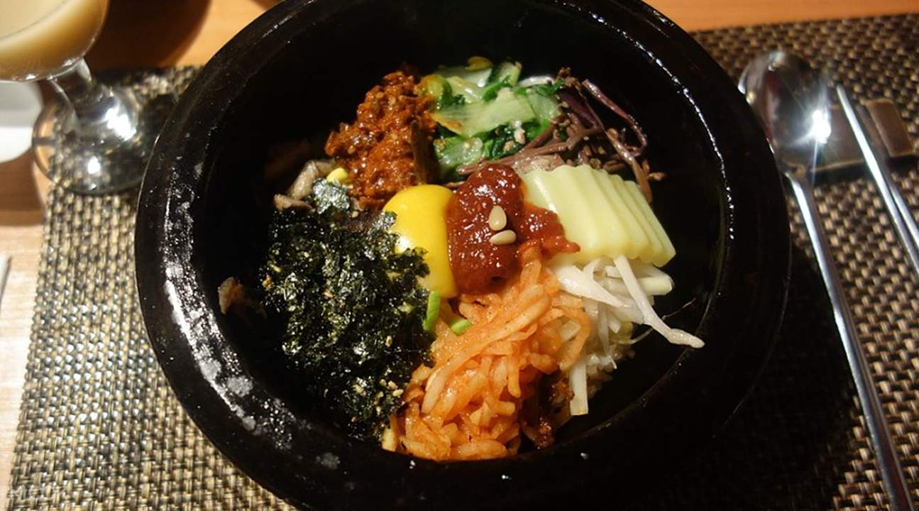 Hot Stone Pot Bibimbap Gogung in Myeongdong Seoul South Korea