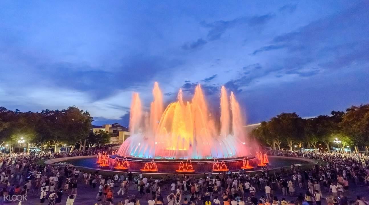 魔幻喷泉表演