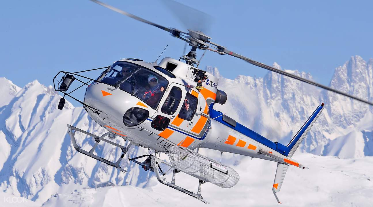 les arcs helicopter experience