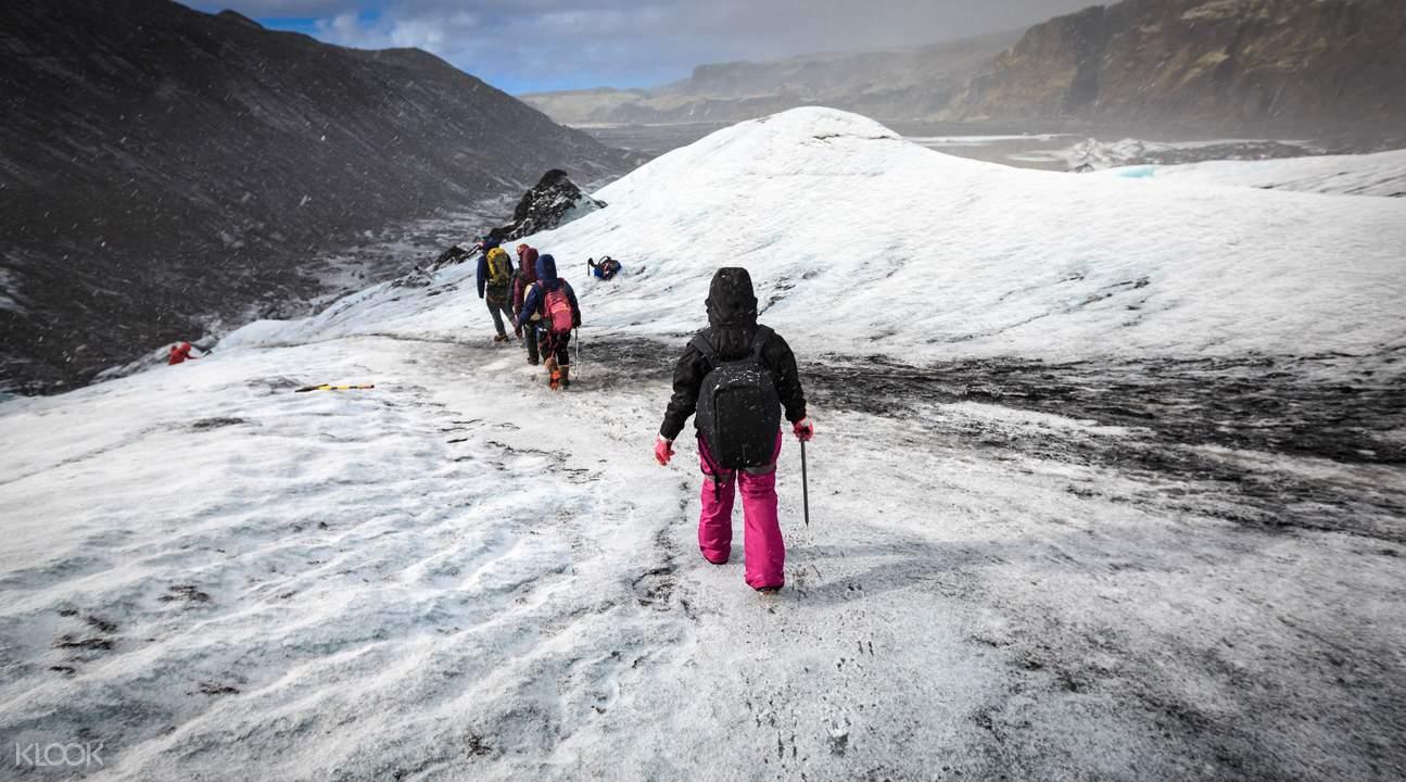 冰岛南岸冰川