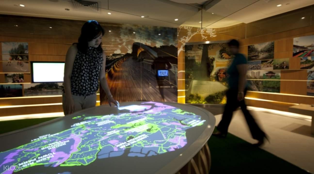 新加坡城市画廊观光