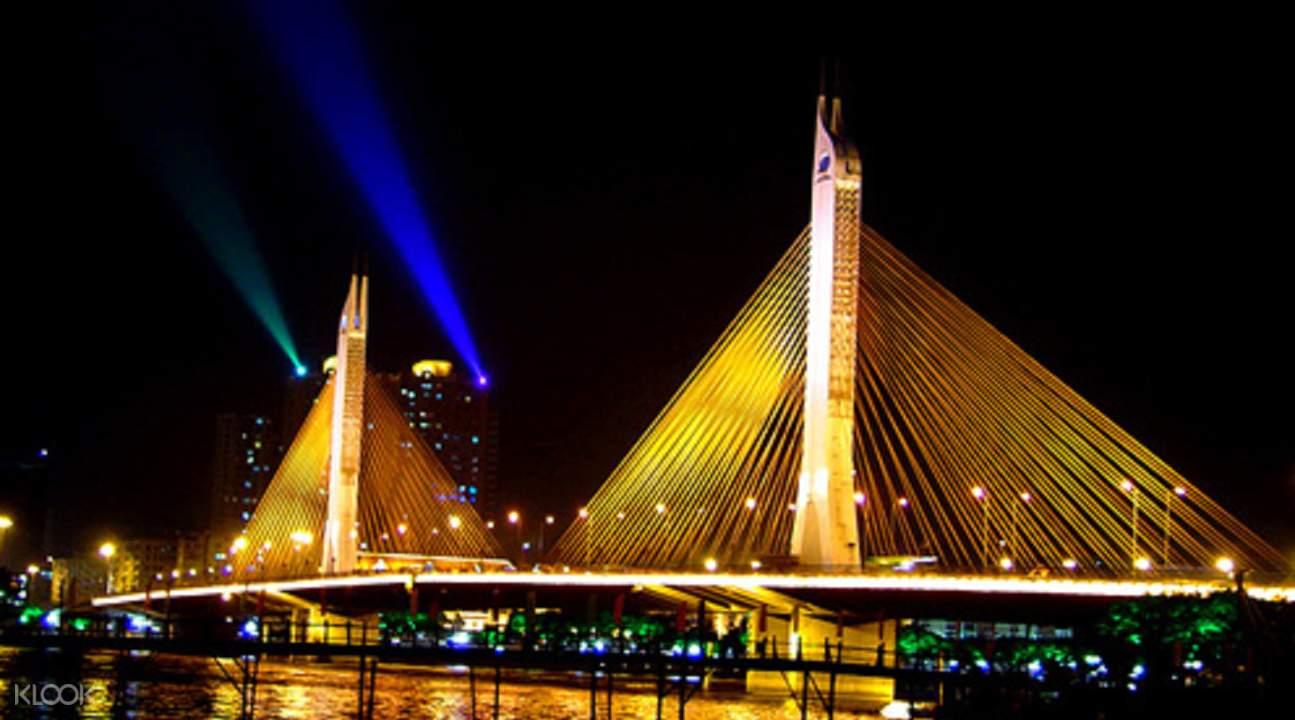 珠江夜游海印大桥夜景