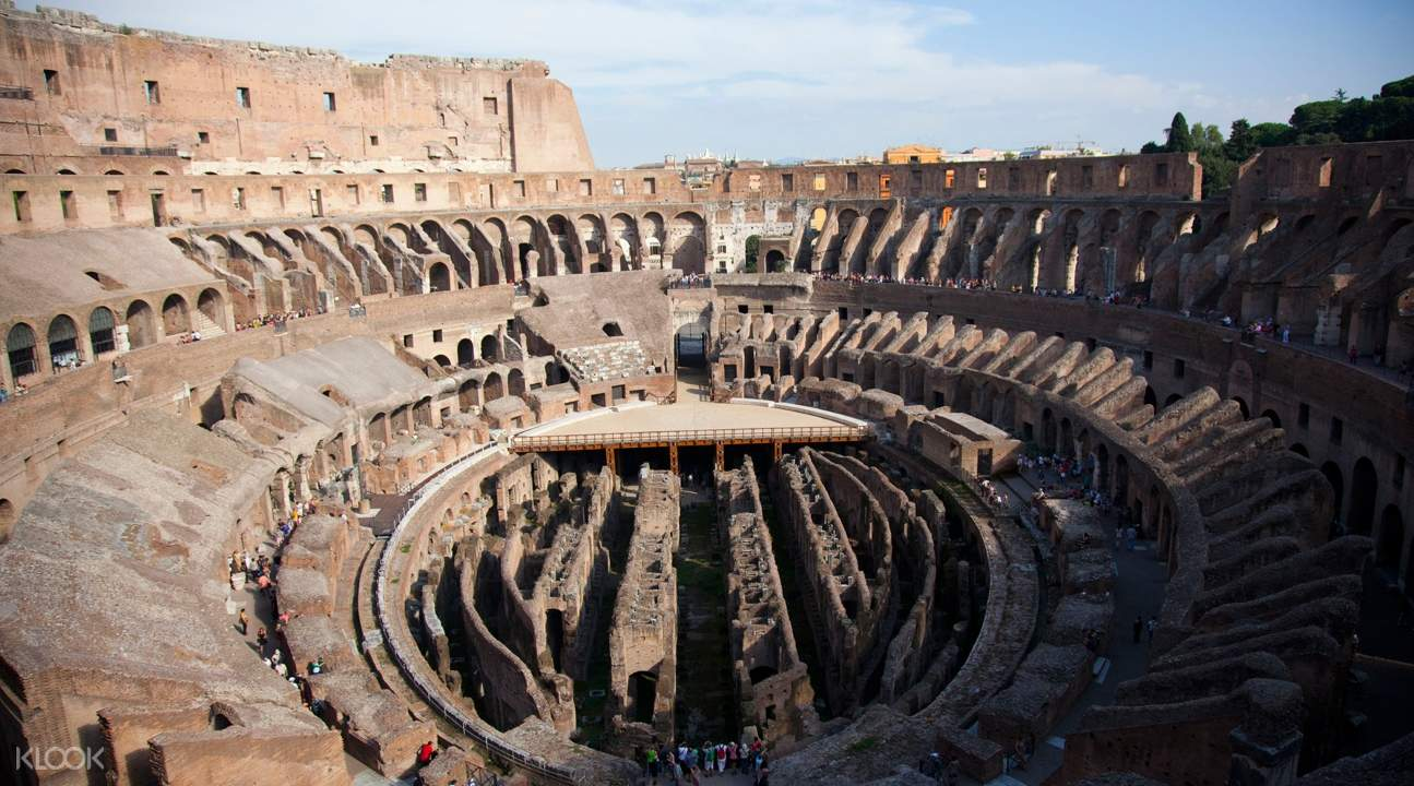 a view of the Colosseum's center