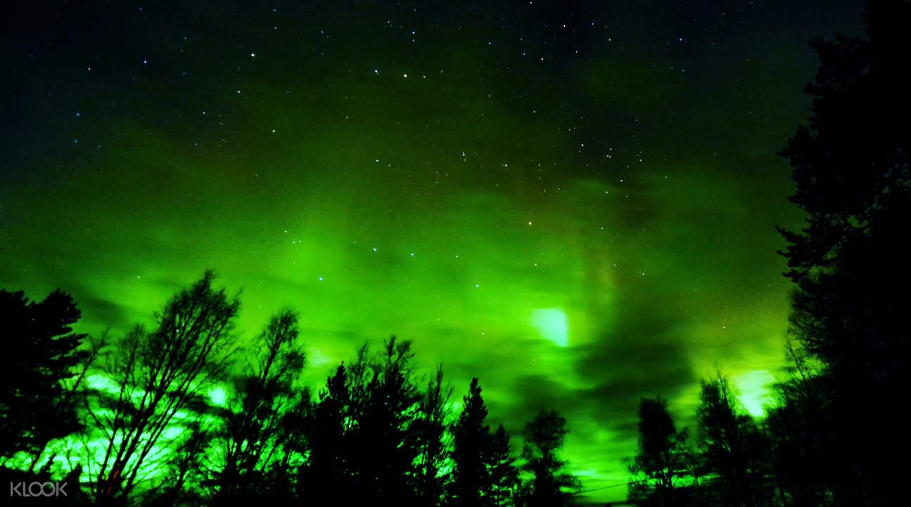 northern lights rovaniemi finland