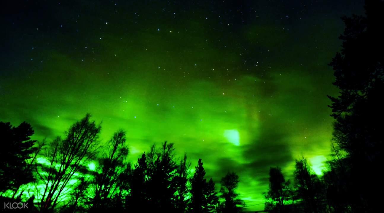 northern lights rovaniemi finland