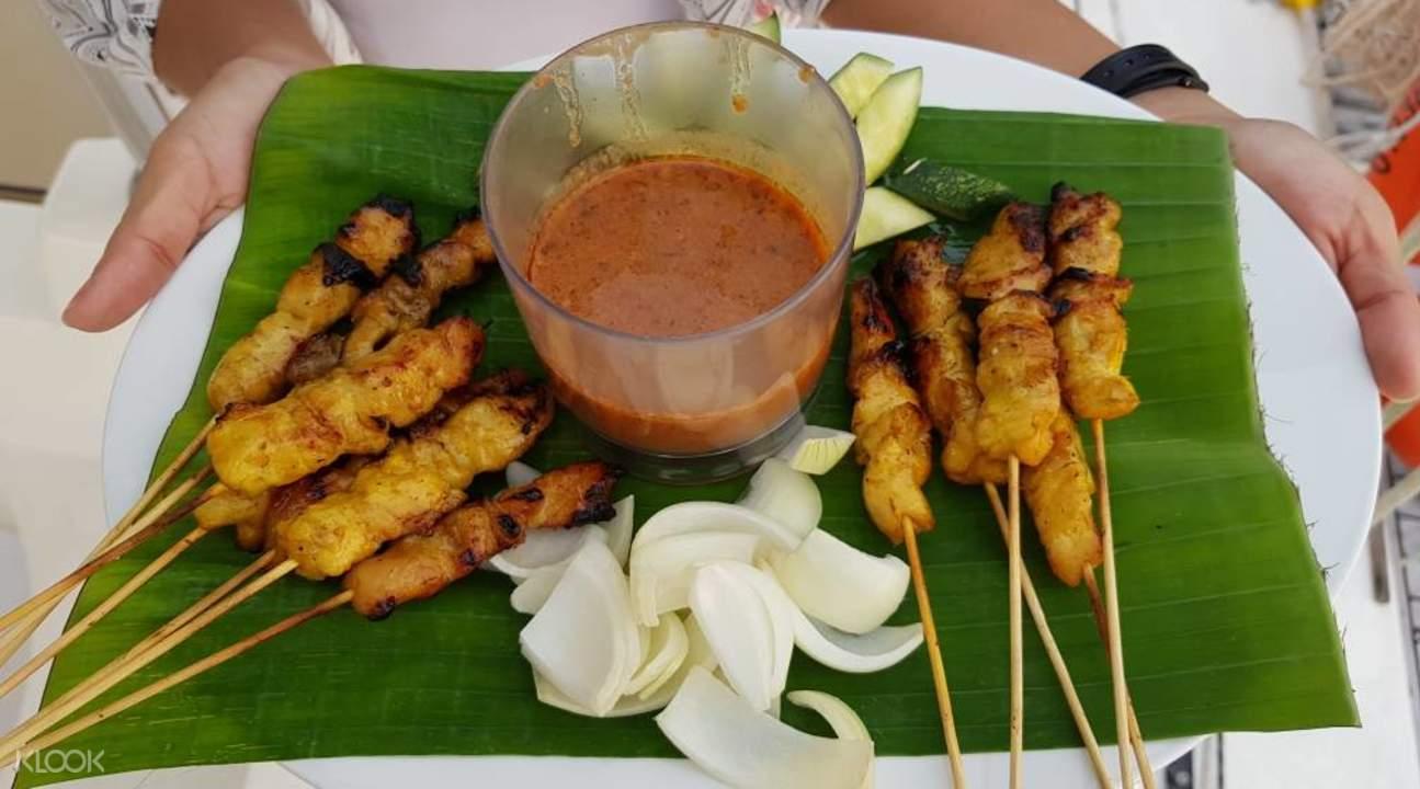 Langkawi luxury cruise chicken satay