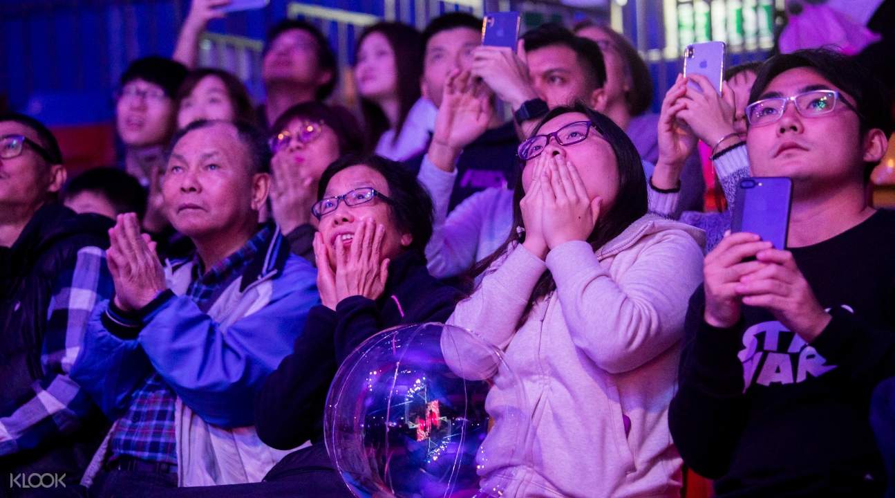 a picture of the audience; they're all in awe