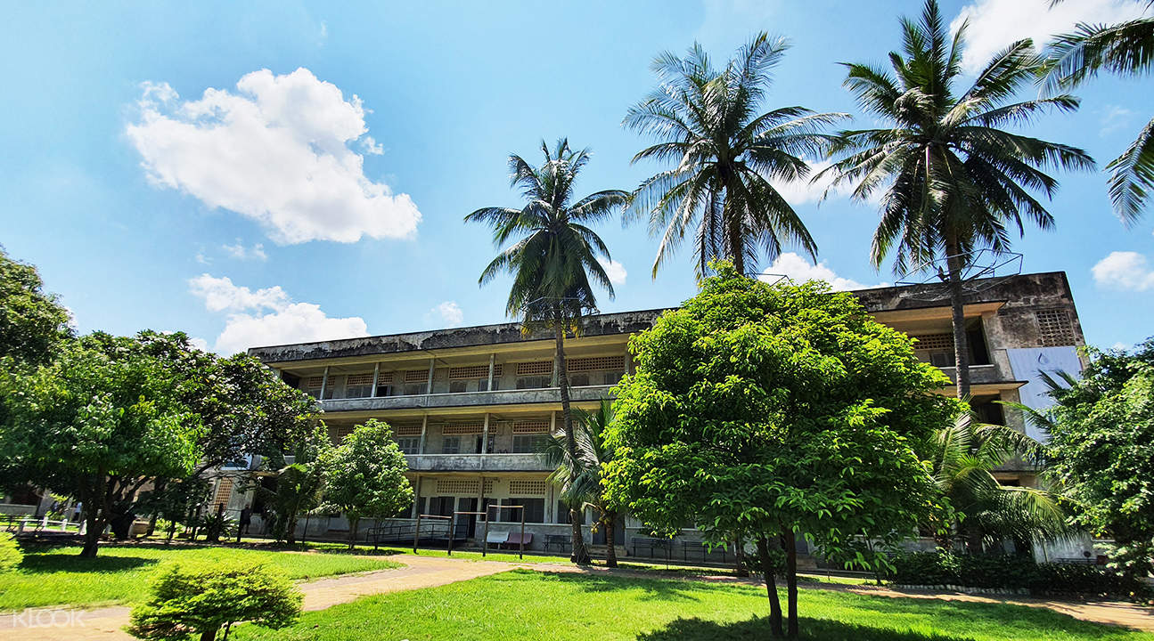 exterior of tuol sleng genocide museum