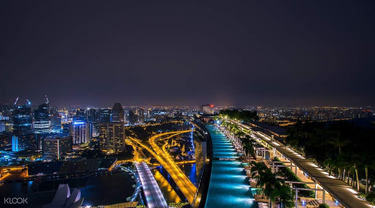 Wonder Full Light and Water Show Marina Bay Sands Skypark Observation Deck admission ticket