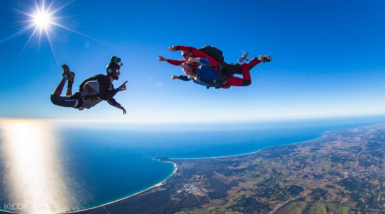 拜倫灣跳傘
