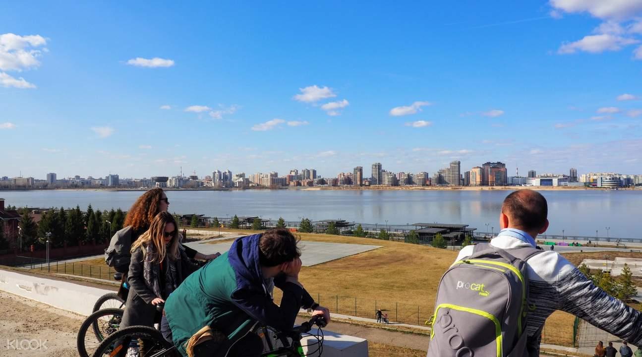 people riding bikes in kazan