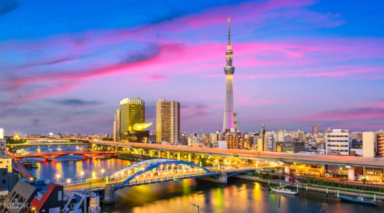 tokyo skytree and tokyo city view during twilight