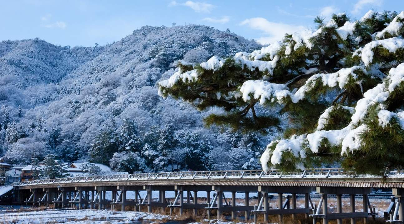 a winter day in Arashiyama