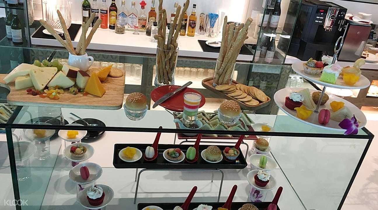 泰國芭提雅A-One皇家遊輪酒店The Boat餐廳下午茶自助餐三明治