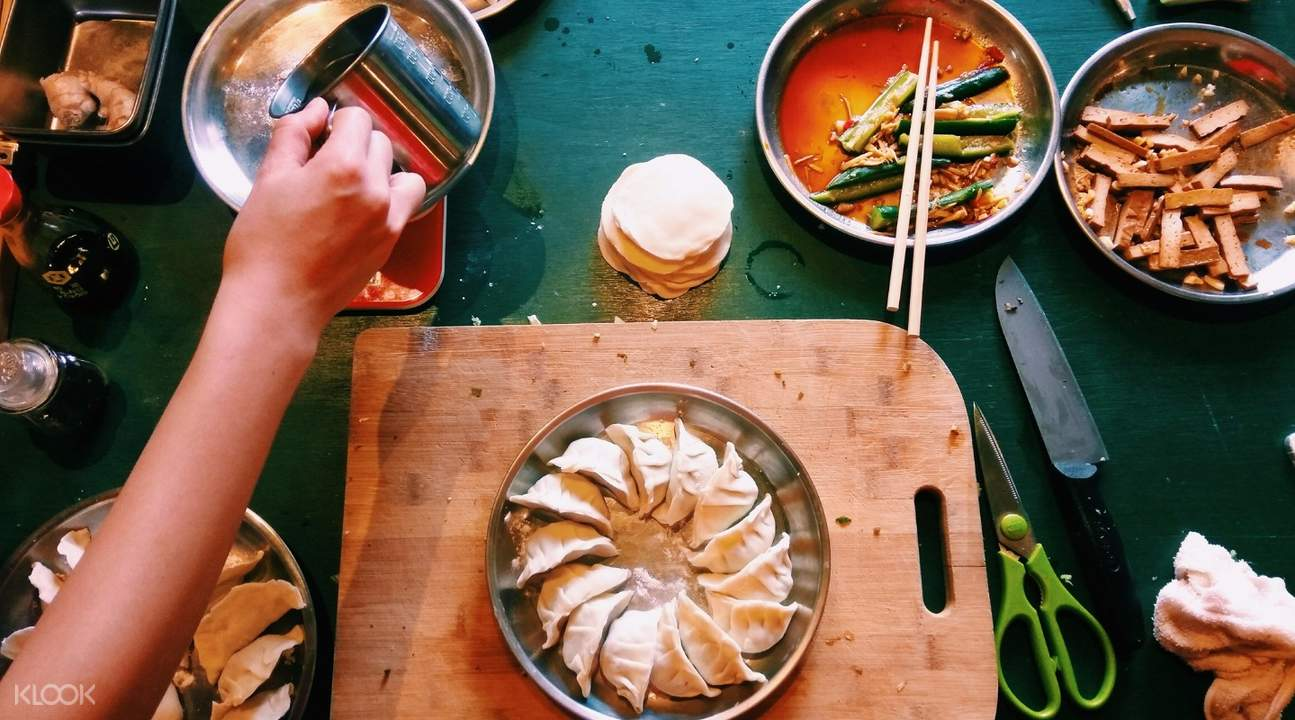 The Coriander Cooking Studio Cooking Class in Taipei Taiwan boiled dumplings