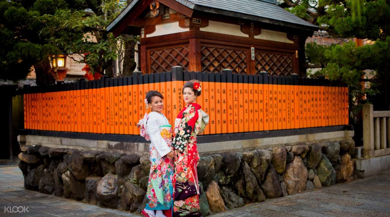 三五好友一起變身日式風情,心情好、景色美,相機鏡頭蓋好像一直就沒有關上過了!