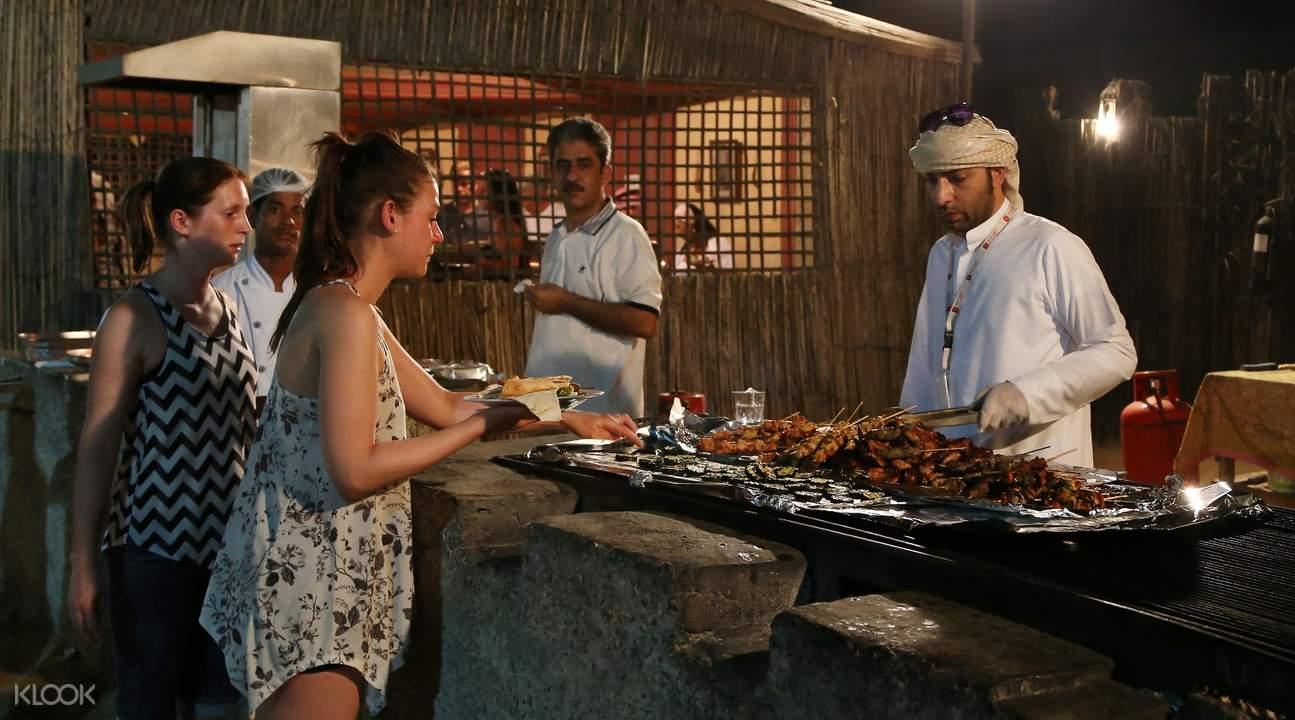 杜拜燒烤晚餐