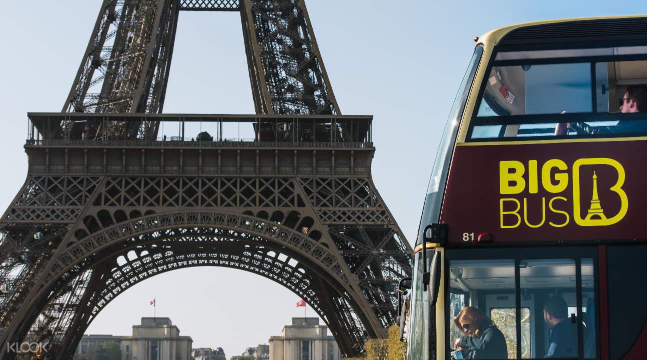 Big Bus near the Eiffel Tower