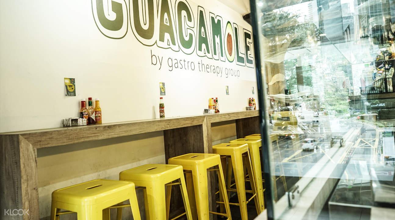 interior guacamole raffles place singapore