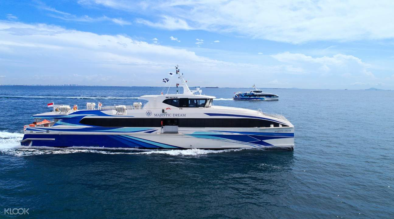 full view of the majestic fast ferry