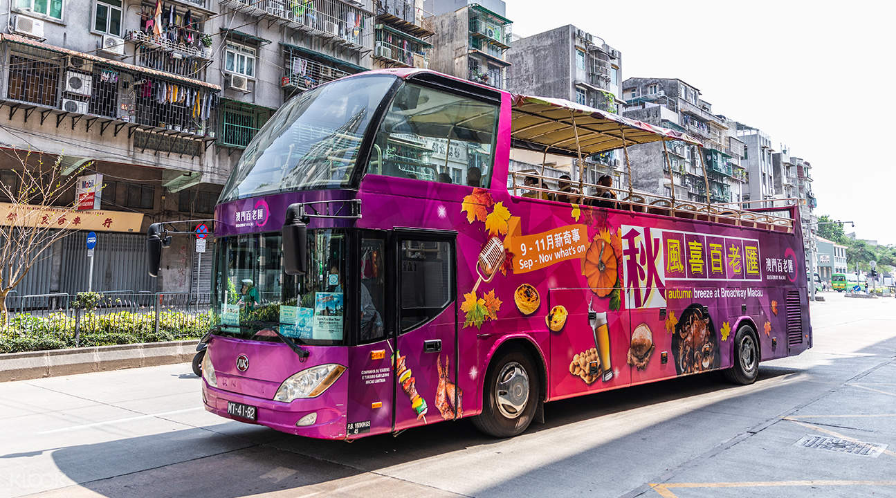 macau open top bus