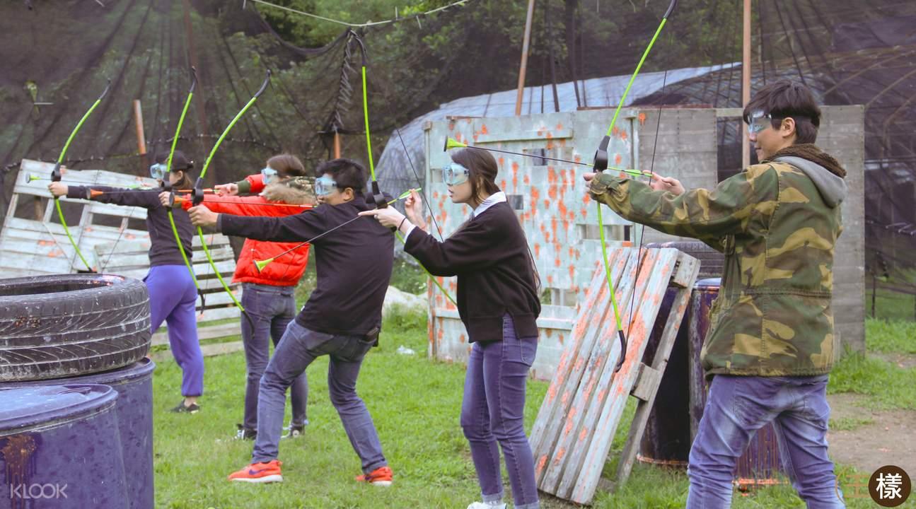 台北飢餓遊戲弓箭對戰體驗