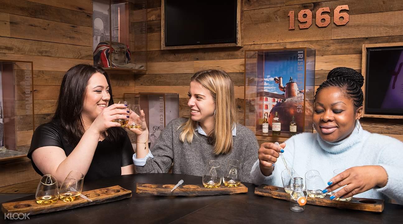 girls toasting irish whiskey