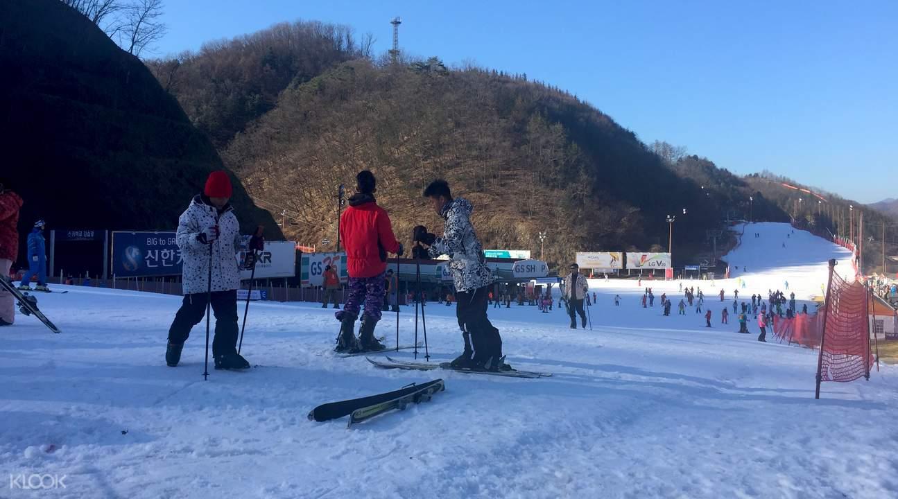 South Korea ski resort