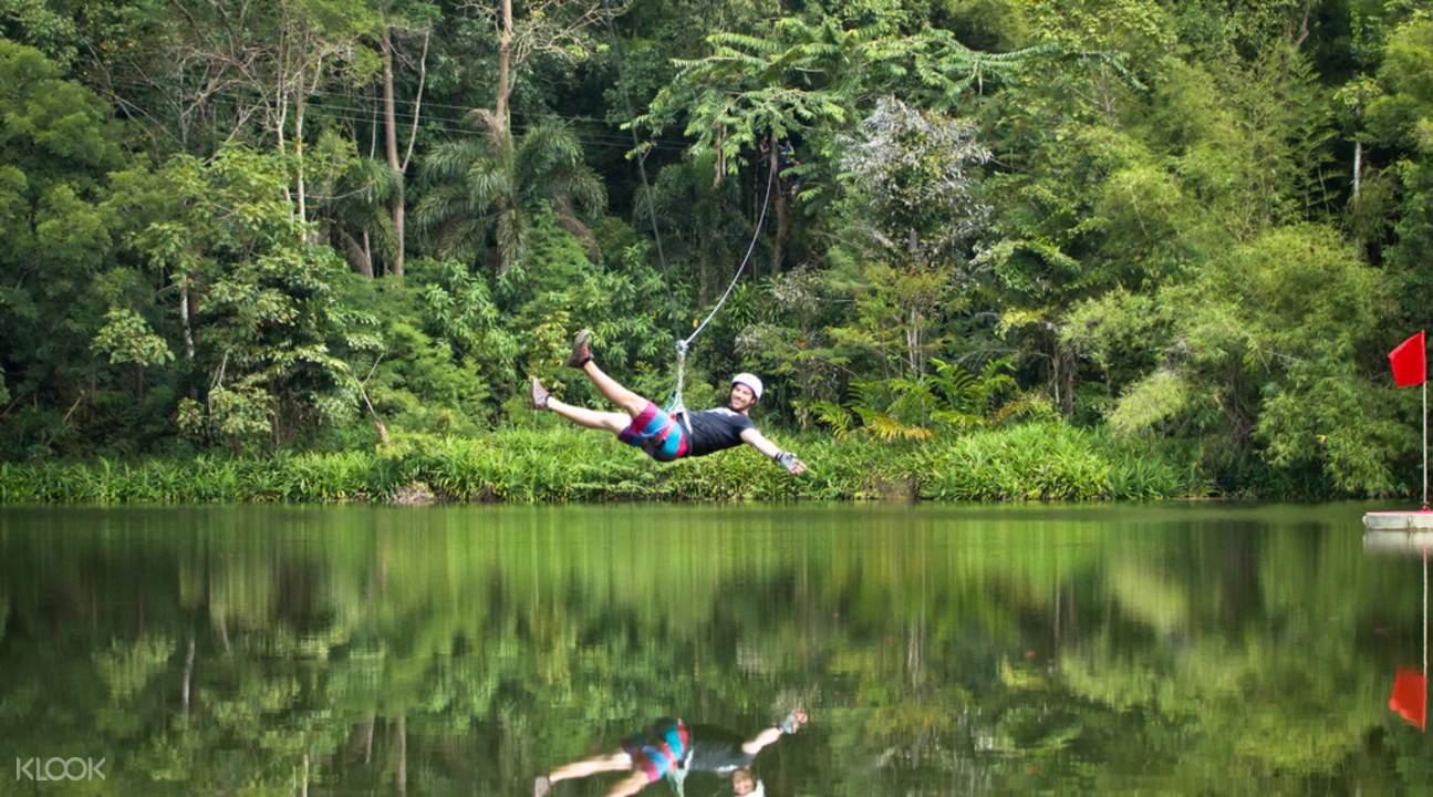 泰國象島樹冠冒險叢林飛躍