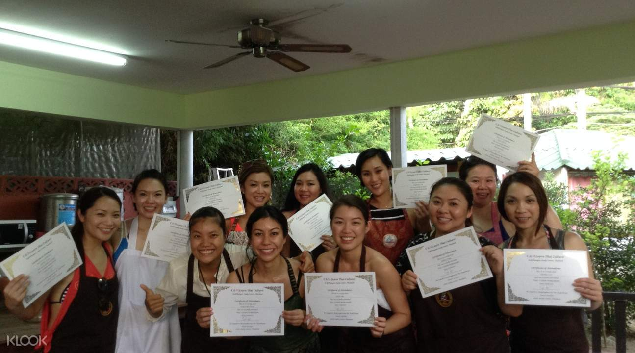 certificate and copy of recipes Private Thai Cooking Class at Koh Phangan Vocational School