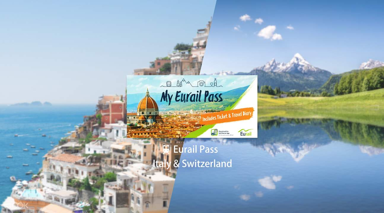 Eurail Pass for Italy & Switzerland (4, 5, 6, 8 or 10 Days)