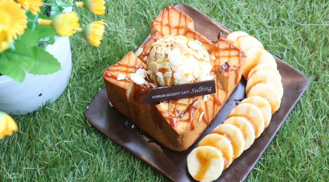 Injeolmi Honey Butter Bread at Sulbing Korean Dessert Cafe in Bangkok