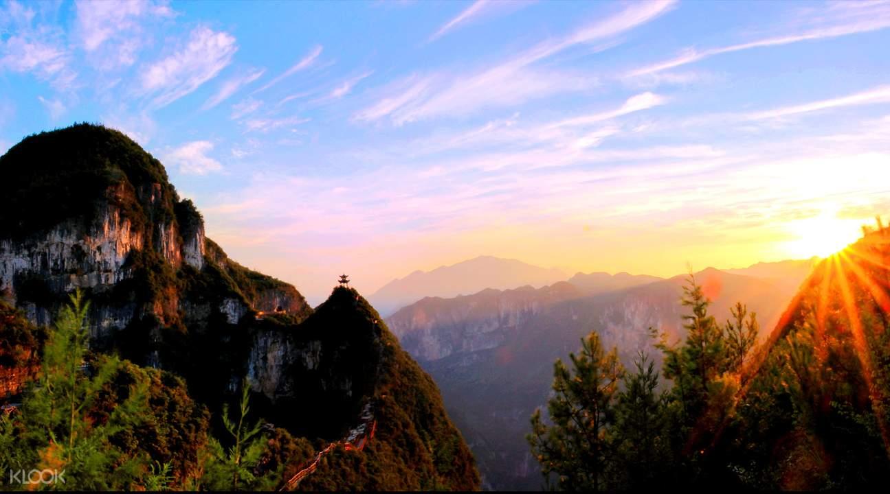 yunyang longgang national geological park ticket chongqing china