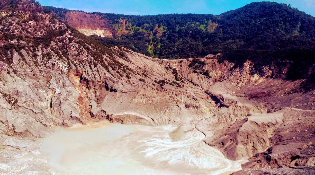 Tangkuban Perahu Volcano Bandung Indonesia