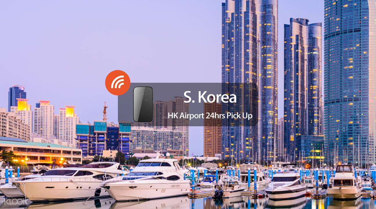 South Korea 4g wifi hk international airport pickup