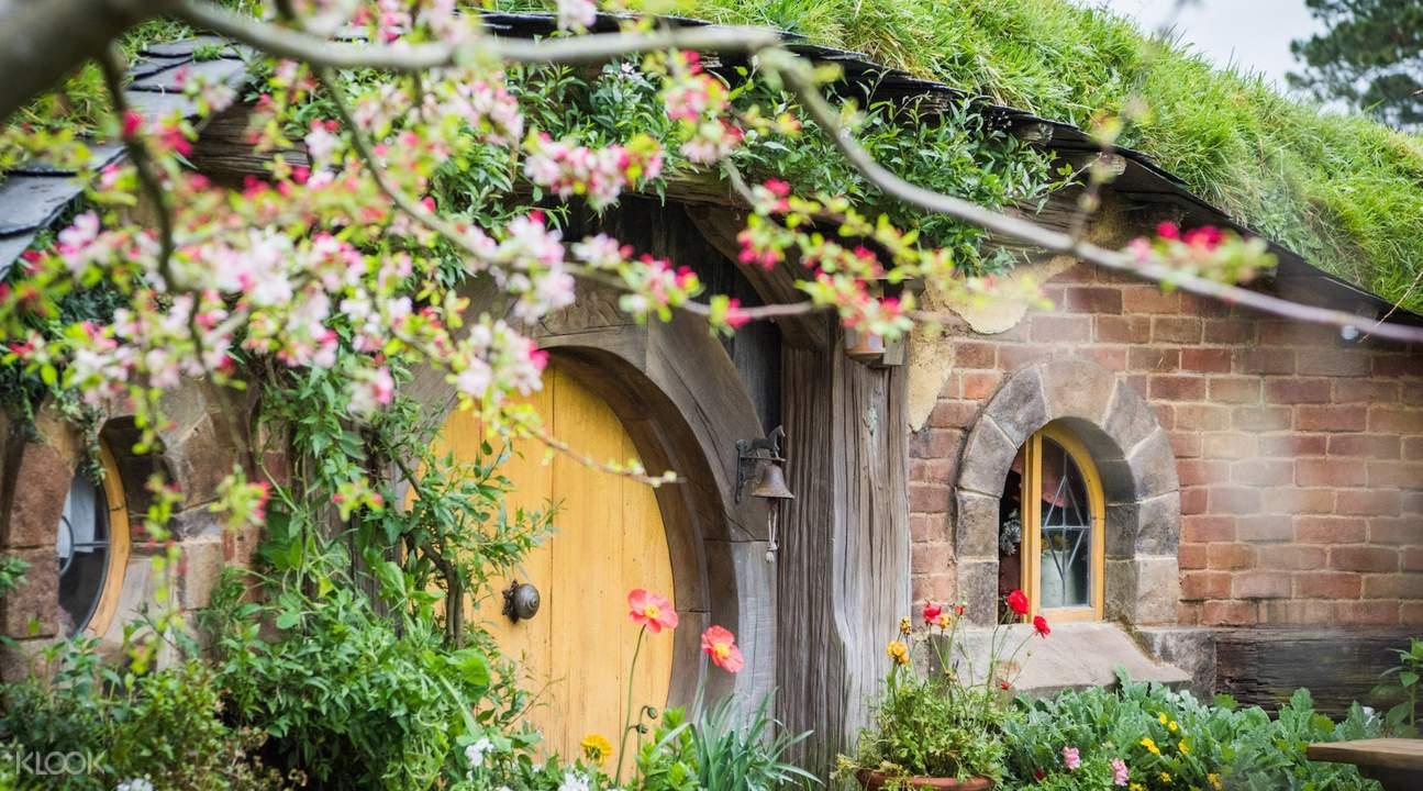 Hobbiton door in New Zealand