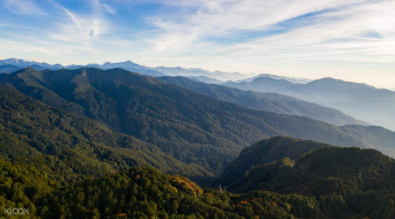 alishan national scenic area bird's eye view