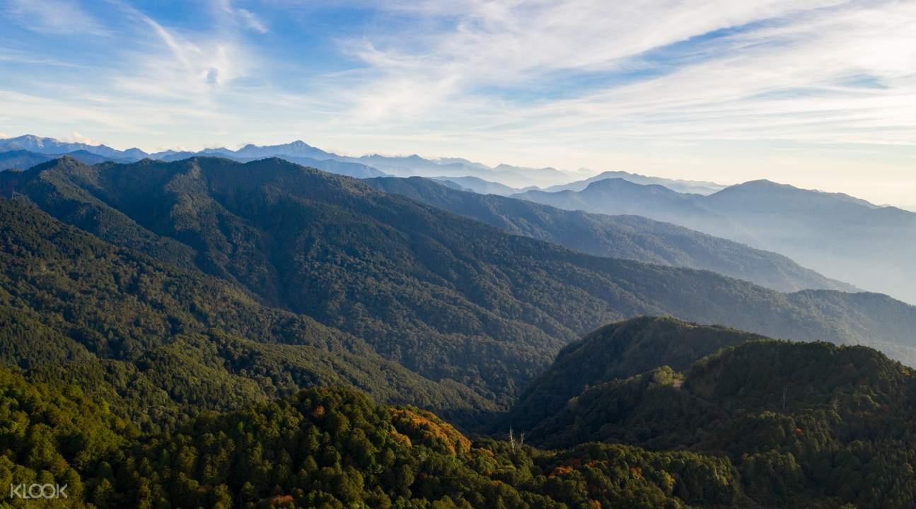 alishan national scenic area bird's eye view