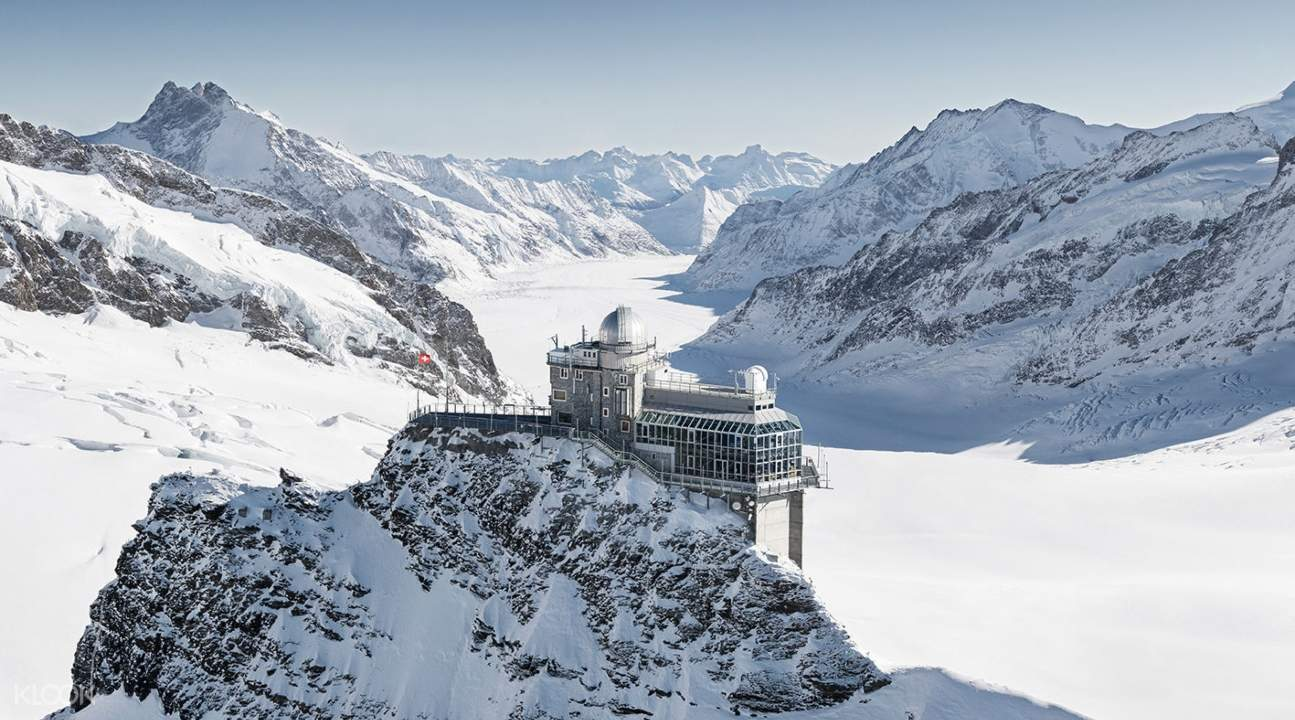 the Sphinx Observatory in the Jungfraujoch saddle