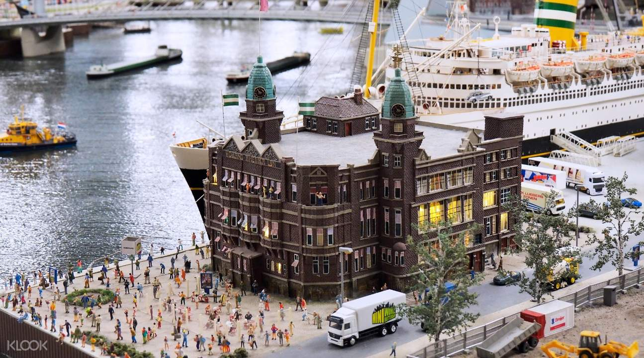 mini building with many mini people
