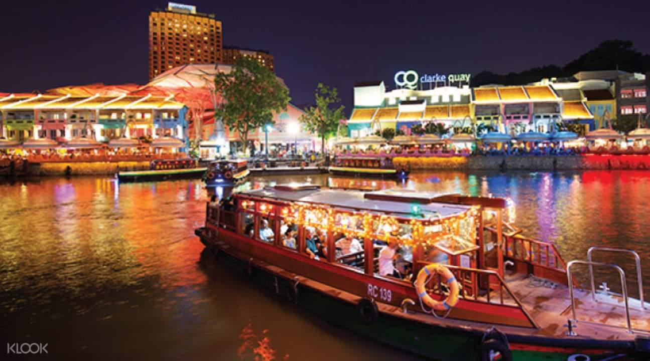 敞篷觀光巴士夜遊新加坡