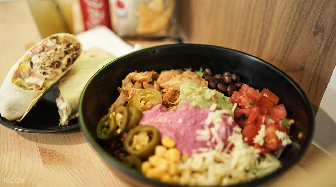 petite bowl and burrito guacamole raffles place singapore