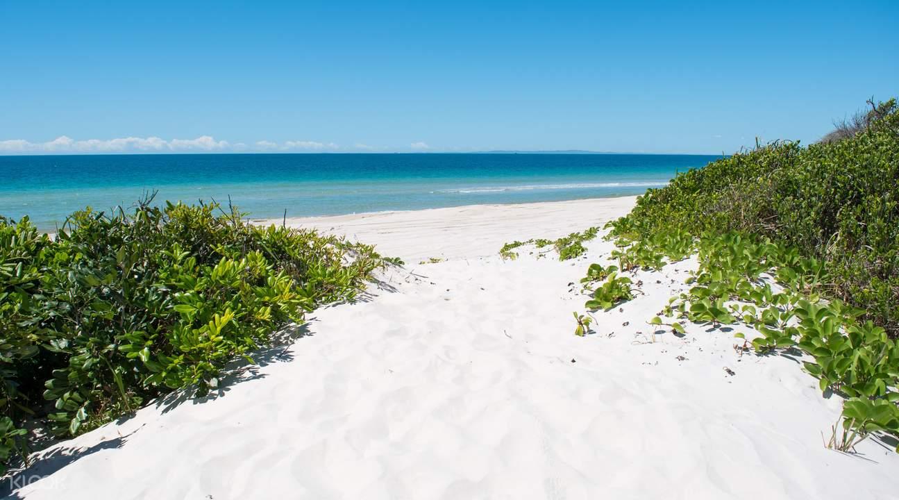 Bribie Island white sand beach