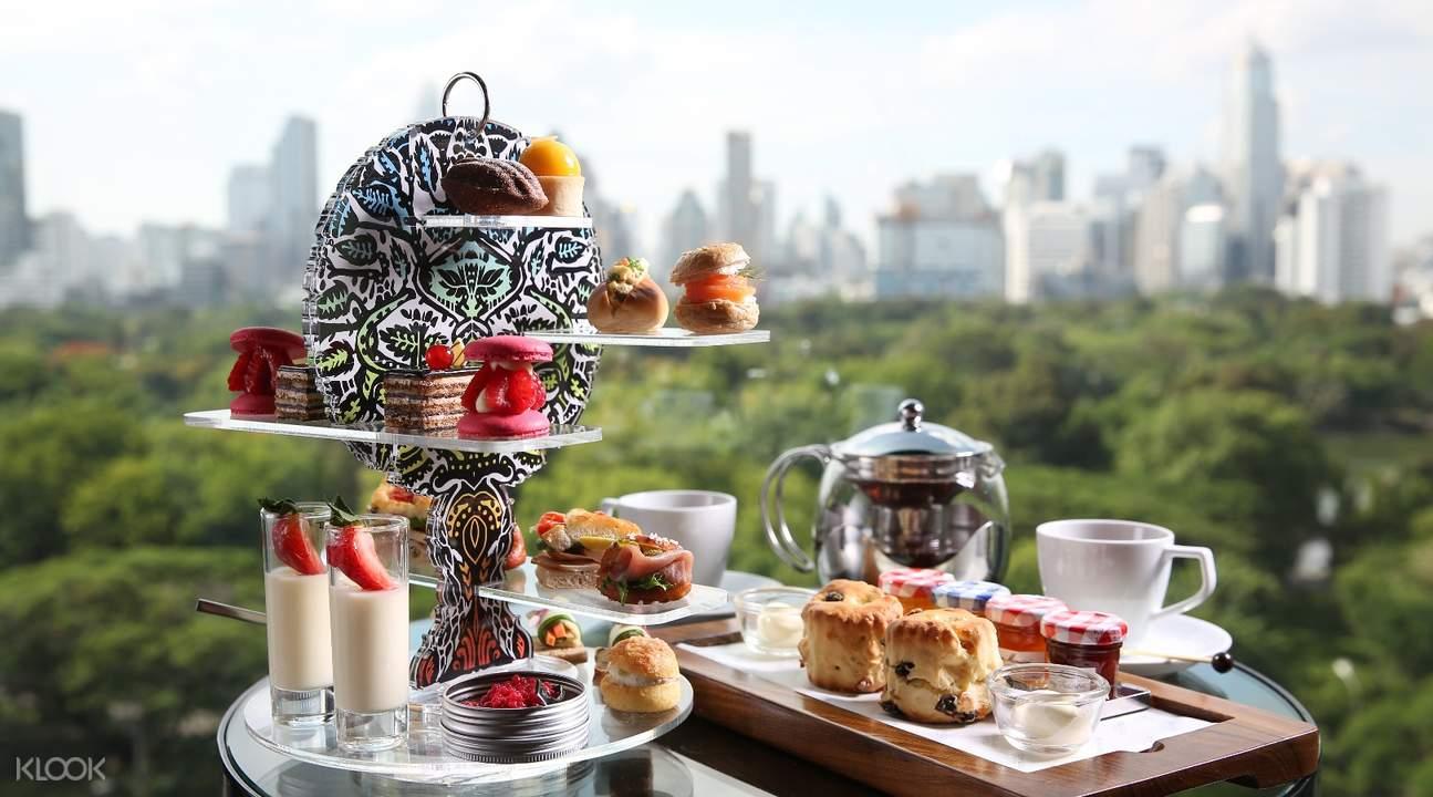 曼谷索菲特酒店MIXO酒吧下午茶体验